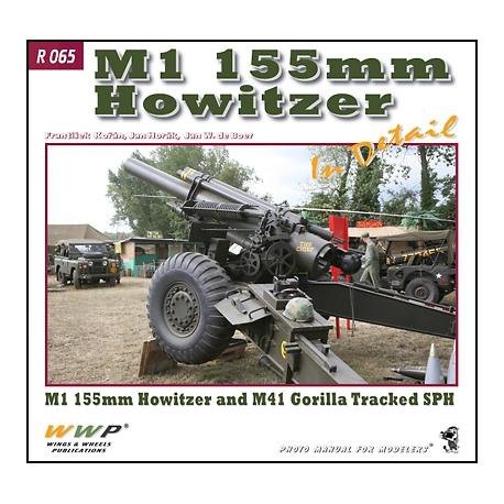 M1 155 mm Howitzer in detail