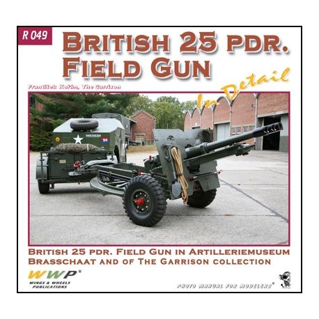 British 25pdr Field Gun in detail