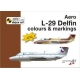 Aero L-29 Delfin colours and markings