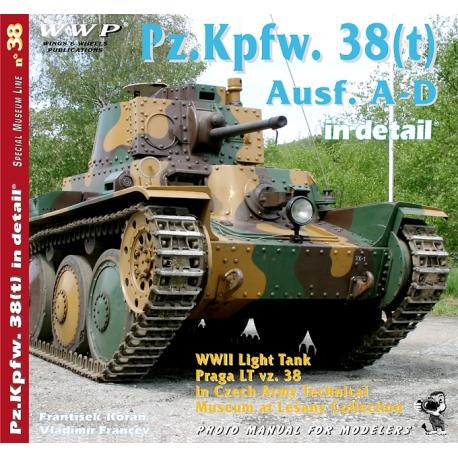 Pz. Kpfw. 38(t) Ausf. A-D in detail